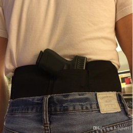 Wholesale Glock Sig Elastic Waist Concealed Carry Holster Belly Band Pistol Gun Holster Magzine Pouches Elastic close fitting hidden Holster