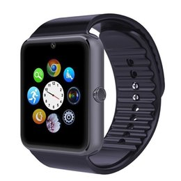 Wholesale GT08 IOS Smartwatch Support GSM TF Fitness Sleep Tracker Bluetooth Device Smart Watch Smart Life For Android IOS Smartphone