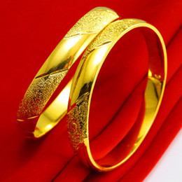 For a long time does not change color gold bracelet female gold 999 gold bracelet simulation jewelry bride jewelry gifts