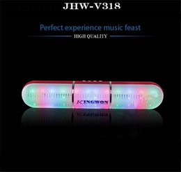 Mains libres universel en Ligne-JHW-V318 Bluetooth haut-parleur Pulse Pill éclairage Flash LED sans fil Bluetooth Portable Speaker Bulit-in Mic mains libres