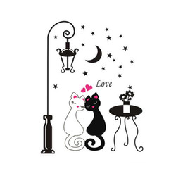 DIY Removable Cartoon Wall Sticker Kids Children's Rooms Decor Home Decoration Decors Cute Couples Cats Decals Adesivo De Parede