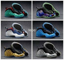 Wholesale 2016 Newest Colors Foamposites One Olympic USA Wu Tang Galaxy Air Hologram Penny Hardaway Women Men Basketball Shoes Foamposites Sneakers
