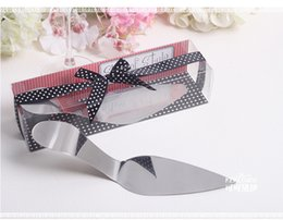 Wholesale 100Boxes Bridal Shower Favors and Gift Serve Up Some Style Stainless Steel High Heel Cake Server Wedding Favor