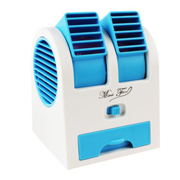 Wholesale 2015 hot sale Mini USB Fragrance Refrigeration Fans Portable Bladeless Desktop fans Cooling Air Conditioners EGS_709