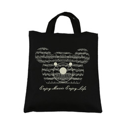 Music Element Bag- Pure Cotton Tote Bag -Shopping bags - High Density
