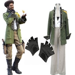Wholesale Final Fantasy XIII Sazh Katzroy Deluxe Cosplay Costume Full Set Anime Character Mens FOR Halloween Party
