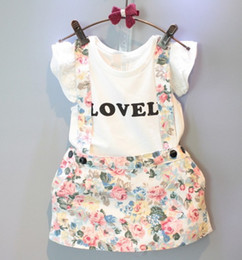 Wholesale Hug Me Girls Girls Outfits and Sets Babys Kids Clothes New Summer Sleeveless Vest T shirts and Rompers Fashion