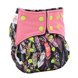 Wholesale AIO Cloth Diaper New Design Reusable Diapers For Baby High Quality Sleep Diaper Stylish Patterns Printing Baby Diapers