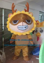 Wholesale Smiling Brown Leo Lion Leonis Constellation Horoscope Zodiac Signs Mascot Costume Cartoon Character Mascotte Adult NO FS
