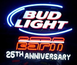"Bud Light ESPN Anniversary Neon Sign Handmade Custom Real Glass Tube Game Sport Store Beer Bar Disco KTV Club Neon Sign 24""X20"""