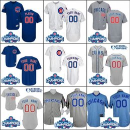 Wholesale 2016 World Series Champions patch Customized Chicago cubs Jerseys Custom Baseball Jersey Cool base Stitched Personalized jerseys size S XL