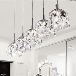 Wholesale K9 Crystal Single Pendant - Modern Minimalist Led K9 Crystal Pendant Light Maples Single Light Dinning Room Bar Bedroom Lustre Lightings