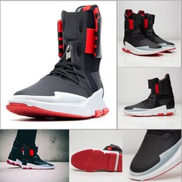 Wholesale Hot Sale Y NOCI Core Black Scarlet White BY2102 Men Fashion High Tops Leather Ankle Boots Sport Shoes Size