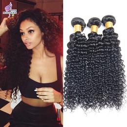 Brazilian Virgin Hair Bundle Deals Deep Curly Brazilian Human Hair Extension Brazilian Deep Curly Brazilian Virgin Hair Weaves 3Pcs Lot