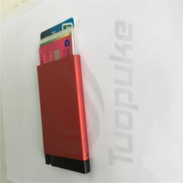 Wholesale Men wallets No breaking No bending slim wallet RFID blocking protection aluminum case credit card protector