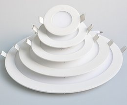 Factory direct sale High quality LED Panel Light 9W 12W 18W Warm Cold White LED ceiling Light Round Ultra thin LED downlight AC85~265V