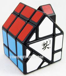 Dayan juguete en venta-Venta al por mayor Dayan Bermudas mágico del cubo rojo y verde Casa Blanco y Negro IQ cerebro Cubos Mágicos Puzzles Juguetes Educativos Juguetes