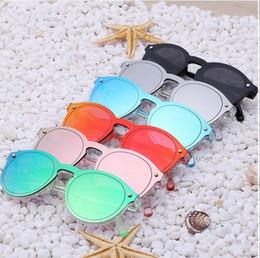 Women Sunglasses Fashion Female Men Retro Reflective Mirror Sunglasses One Piece Round Sunglass 6Pcs Lot