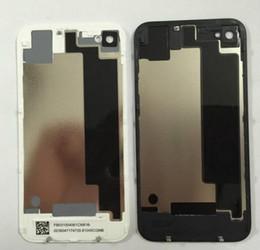 Iphone vidrio de alta calidad en Línea-Nuevo reemplazo de la alta calidad de las piezas de la batería Volver cubierta de cristal para el iPhone 4 4G 4S Negro Blanco Con Vivienda nave libre de DHL