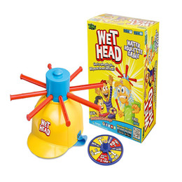 Wholesale Wet Head Game children adult Amusement Toys Wet Head Challenge Jokes Funny Toys roulette game Tricky cap New Table Game B001
