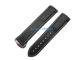 Wholesale 20mm new top grade bianco cucita impermeabile di immersione subacquea nero bands gomma di silicone cinturino cinghie for omega watch