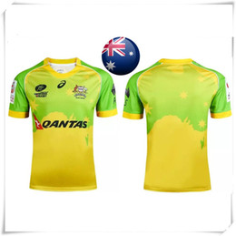 Wholesale With Logo name AIG Super NRL AUSTRALIAN SEVENS Rugby jersey England football shirt teams Sport Wholse Cheap