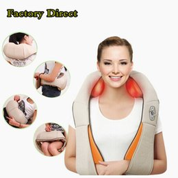 Hot Sale! Multifunction health care car home pillow massager acupuncture kneading heating neck shoulder massager anti cellulite