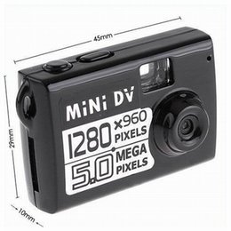 Wholesale Motion detection Mini DV World s smallest MP COMS Mini camera Digital Video recorder AVI resolution PC Webcam loop video