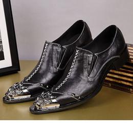 Descuento botas altas de tacón hombres señalaron dedos de los pies NUEVO 2016 Botas tamaño de los zapatos hombres más EU38-46 para hombre de la personalidad de cuero zapatos de vestir zapatos de cuero del dedo del pie en punta-tacón alto