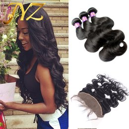 Virgin Brazilian Lace Frontal Closure Bleached Knots 13X4 Body Wave Full Lace Frontal with Baby Hair Unprocessed Virgin Human Hair