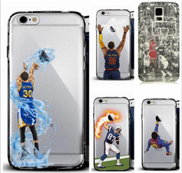 Wholesale phone cases for iphone7 s plus note7 s7 hard PC painting cover case basketball football man star design defender case GSZ103