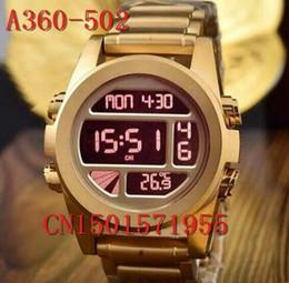 Wholesale-free shipping New CHRONO NIXO A360-502 Chrono All Gold Chronograph Mens Watch A360-502 A360502 Watch original brand