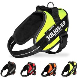 Wholesale HOT Sale Reflective JULIUS Police K9 Dog Harnesses Pet In Training Vest With Quick Control Handle For Small Meduim Large Breeds Green R