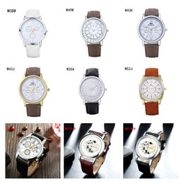 Brand new Quartz Wrist watches fashion business strap watch,power reserve mens Analog-Digital watches 6 pieces a lot mix color DFMWH12