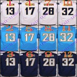 Wholesale NIK Elite Football Stitched Chargers Allen Rivers Melvin Gordon Weddle Navy Light Blue White Dark Blue Jerseys Mix Order
