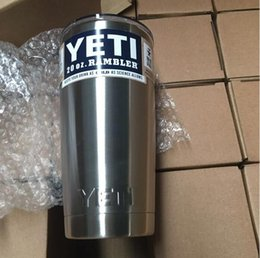 Wholesale In Stock New YETI COOLERS OZ STAINLESS STEEL RAMBLER TUMBLER CUP COFFE MUG DHL free