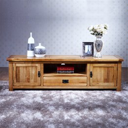 Wholesale 100 Pure Solid wood TV Stand Oak TV Stand Media Console Table Soild Wood TV Storage Cabinet Unit