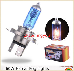 10 Pieces H4 Super Bright White Yellow Fog Halogen Bulb Car Head Light Lamp h4 60W car styling car light source parking