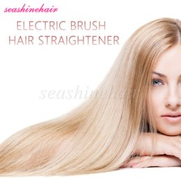 Electric Brush Hair Straightener Comb Irons with LCD Display Hair Iron Brush Hair Straightening Styling tools