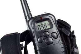 Wholesale 300 Meters Remote Control Electric Anti bark Dog Training Collar lv Shock Vibra Trainer Vibrador Lcd Display Retail Box