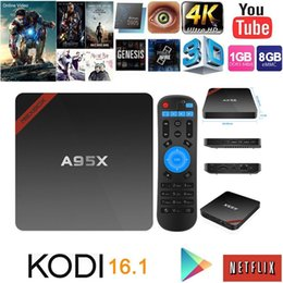 Wholesale Best selling Amlogic S905X A95X Android TV Box G G Quad core Android G Wifi Media Player KODI