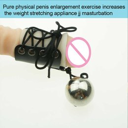 Wholesale Penis Extender g Male Penis Extender Adjustable Penis Sleeve CHROME BALL WEIGHTS Cock Ring Ball Stretcher Stretch with