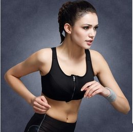 New Professional Beauty Back Sports Underwear Wire Free Shockproof Front Zipper Seamless Underwear Yoga Vest Suitable For Women of All Ages