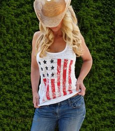Wholesale Tinderala Summer T shirt Hot European and American foreign trade flag printed cotton T shirt vest Top