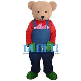 New Cartoon Adult Cute Bear Cartoon Mascot Costume Fancy Dress.