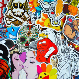 Wholesale 100 Pack Random Music Film Vinyl Skateboard Guitar Travel Doodle Graffiti Decal Cute Fashion Car Funny Stickers CDE_00G