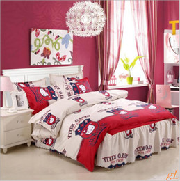 winter thicken bed skirt style Aloe vera cotton bedding free shpping
