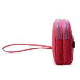 Compra Online Bolsas de bolsillos-Pequeño de la manera de las mujeres del bolso de embrague de nylon nylon resistente al agua pulseras Múltiples suave de la cremallera Bolsillos Kiple Estilo de hombro del monedero del bolso