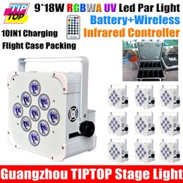 Wholesale Charging Flight Case Pack IN1 W RGBAW UV Remote Led Par Cans Stage Light LED Display MHA Large Rechargeable Battery
