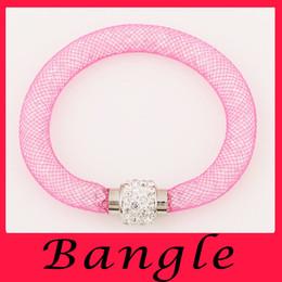 Wholesale Sweet all match diamond mesh personality automatic magnetic buckle Bangle Bracelet magnet buckle bracelet manufacturers direct